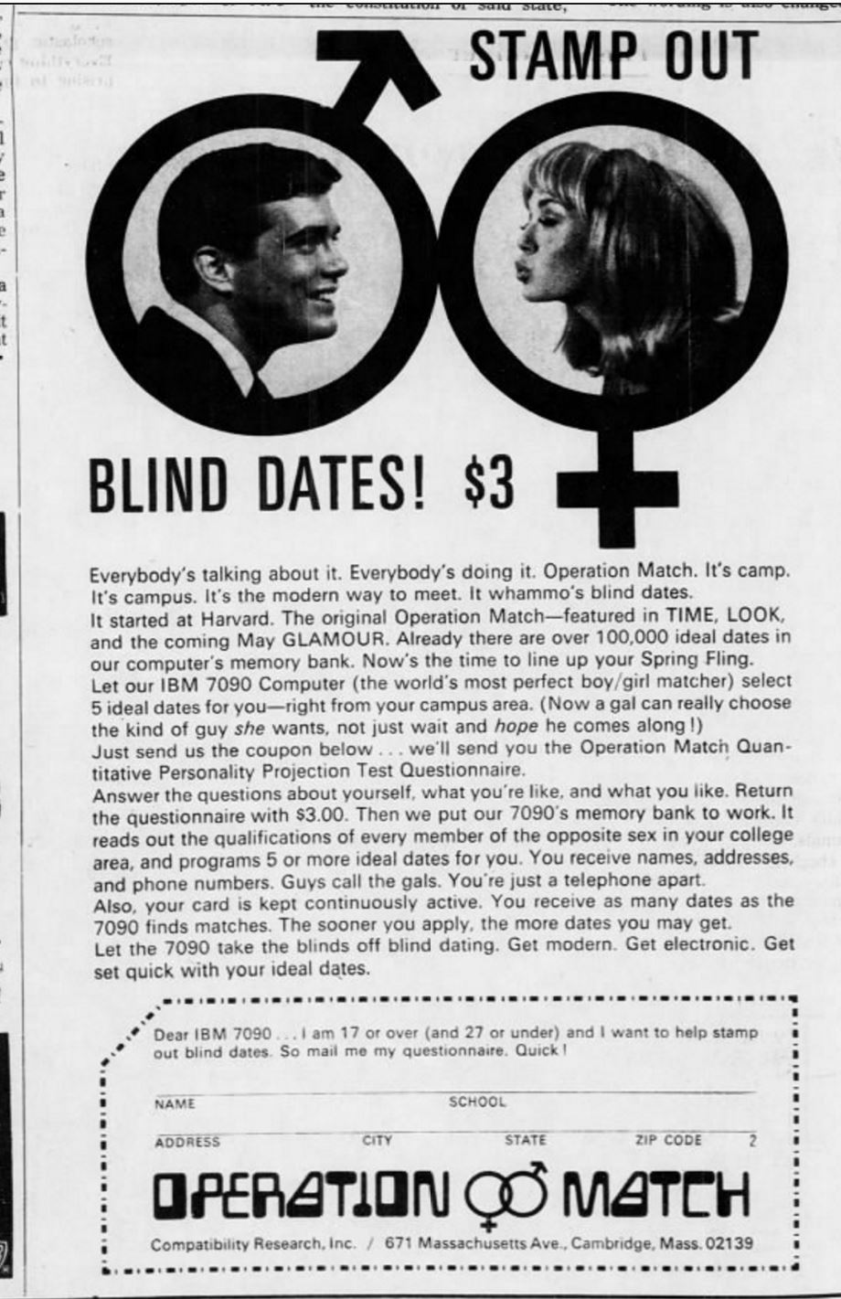computer dating 1960s