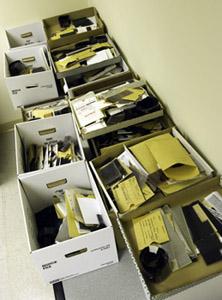 Boxes of Morton negatives