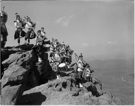 Carnegie Tech Kiltie Band on Grandfather Mountain, 1961
