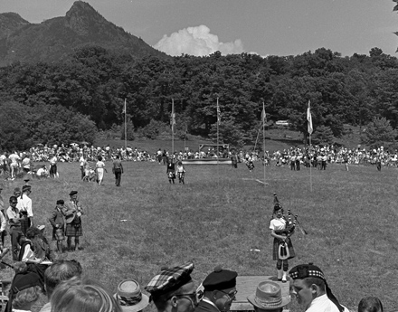 View of Grandfather Mountain Highland Games