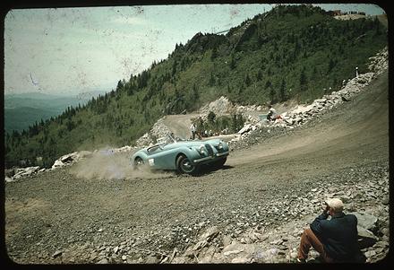 Sports Car Climb, Grandfather Mountain, circa mid 1950s.