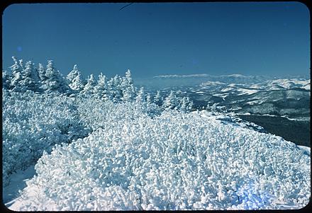 Winter scene, view from Grandfather Mountain, circa 1960s