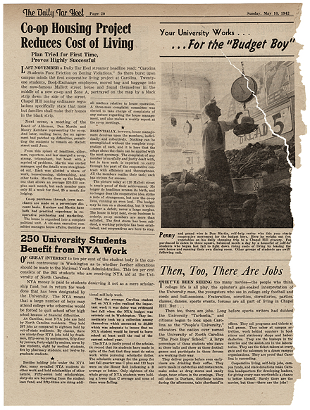 """Page 20 of the The Daily Tar Heel special edition """"Your University—Servant of the State"""" 10 May 1942."""