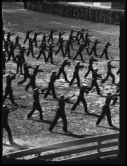 N.R.O.T.C students in training, University of North Carolina at Chapel Hill, circa 1942.