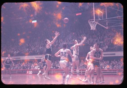 Duke versus UNC basketball, undated, circa 1957?
