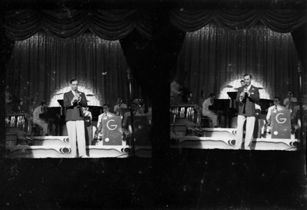 Benny Goodman orchestra performing in Washington, DC, late 1930s-early 1940s
