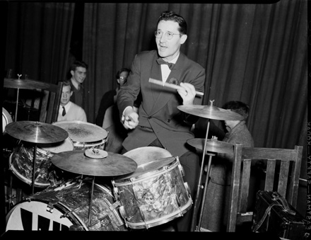 Unidentified jazz drummer, circa 1940s-early 1950s