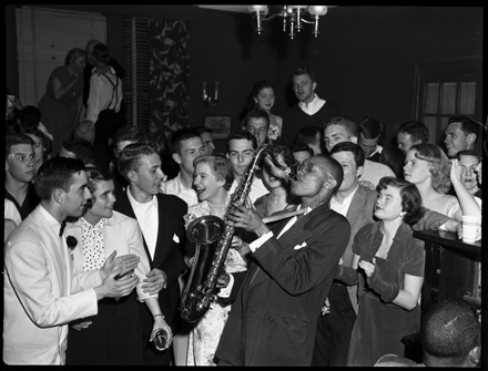 Unidentified jazz saxophonist, circa 1940s-early 1950s