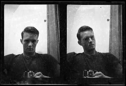 Hugh Morton self-portrait, ca. mid-to-late 1930s
