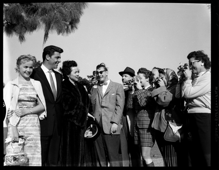 Unidentified celebrities at the Azalea Festival, Wilmington, NC, ca. early 1950s