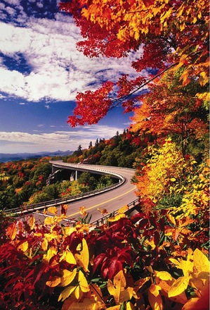 Blue Ridge Parkway Viaduct in Fall