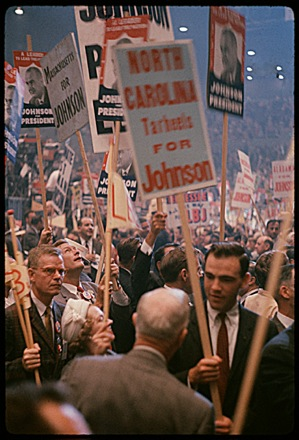 Lyndon Baines Johnson supporters at the 1960 Democratic National Convention in Los Angeles