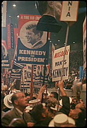 John F. Kennedy supporters at the 1960 Democratic National Convention in Los Angeles