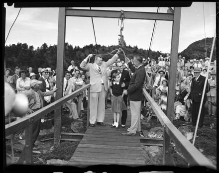 Dedication of Mile High Swinging Bridge, Sept. 2, 1952