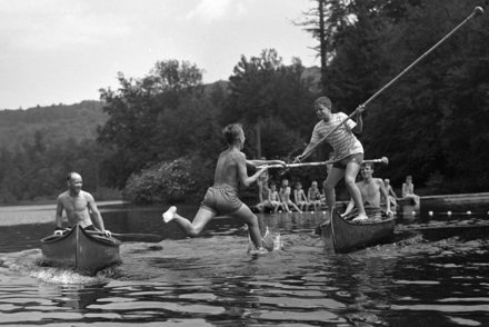 """Canoe Tilt,"" Camp Yonahnoka, early 1940s"