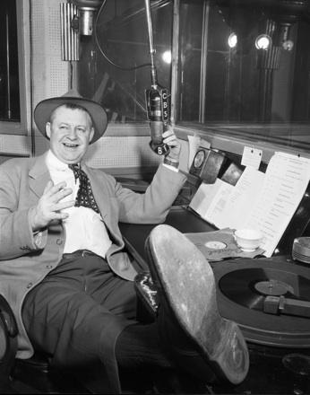 WBT announcer Grady Cole, early 1950s