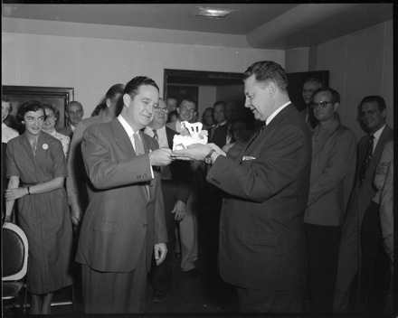 Party for Grady Cole's 25th anniversary at WBT Radio, 1950s