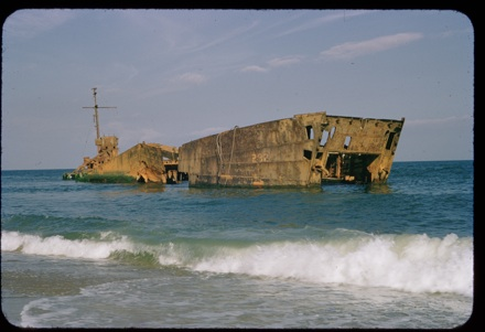 Shipwreck, North Carolina coast, 1950s