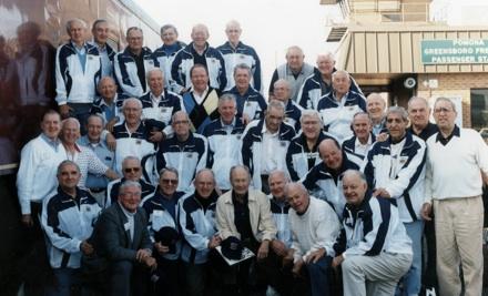 Reunion of 1947 UNC Sugar Bowl Team, at Greensboro Train Station, 12/31/1996