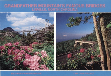 Grandfather Mountain postcard, circa 1990s
