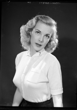 Portrait of actress Cathy Downs, 1952 Queen of the NC Azalea Festival