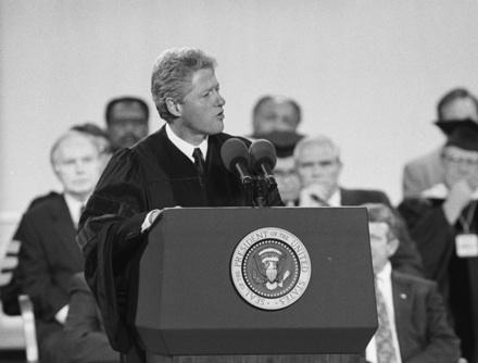 President Bill Clinton speaking at UNC-Chapel Hill's Bicentennial, October 1993