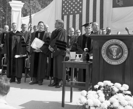 President John F. Kennedy at University Day 1961