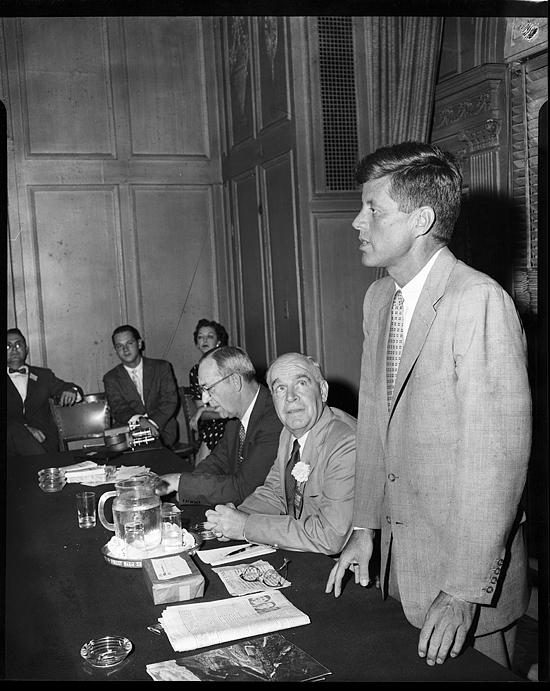 John F. Kennedy at North Carolina Caucus, 1956 Democratic National Convention