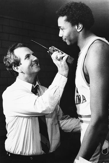 Woody Durham interviewing Warren Martin
