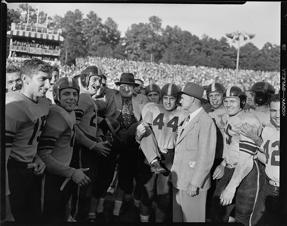 Following October 11, 1947 UNC–Wake Forest football game in Kenan Stadium, UNC