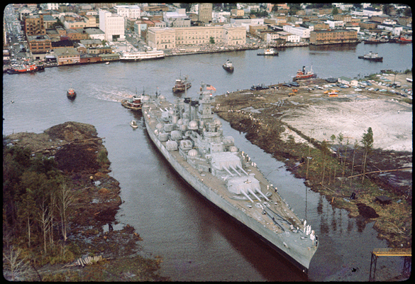 USS North Carolina berthing, October 2, 1961.