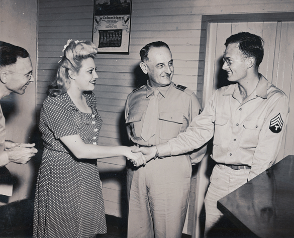 Hugh Morton and others, October 1944