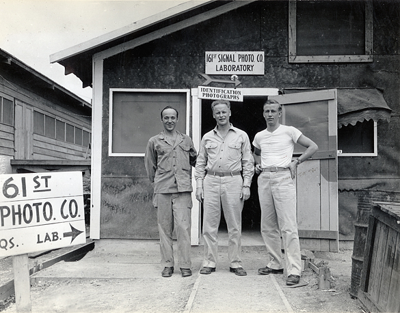 Thomas L. Wood and two others at 161st HQ Noumea
