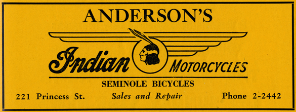 Anderson's Bicycle advertisement