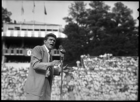 Andy Griffith at Kenan Stadium, 1954