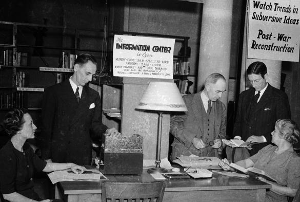 Information Center on Civilian Morale, Wilson Library, University of North Carolina, January 1942