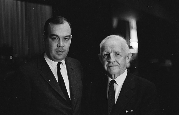 Charles Kuralt and Frank Porter Graham