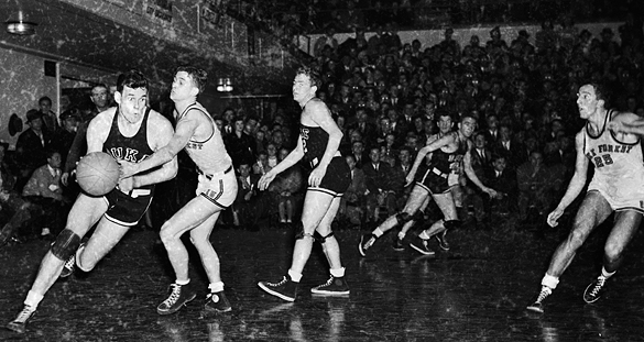 Duke versus Wake Forest during 1942 Southern Conference Tournament