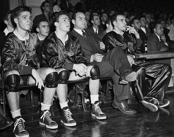 Duke bench during game against Washington and Lee