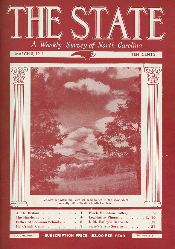 The State, 8 March 1941, cover
