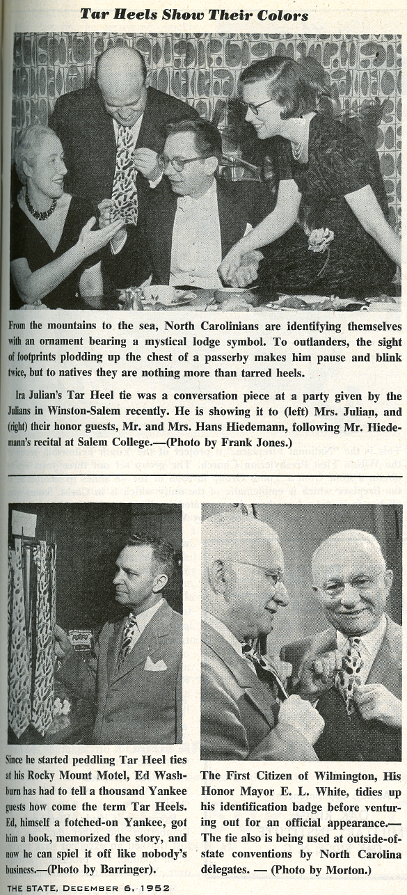 Article in The State, 1952-12-06, page 9.