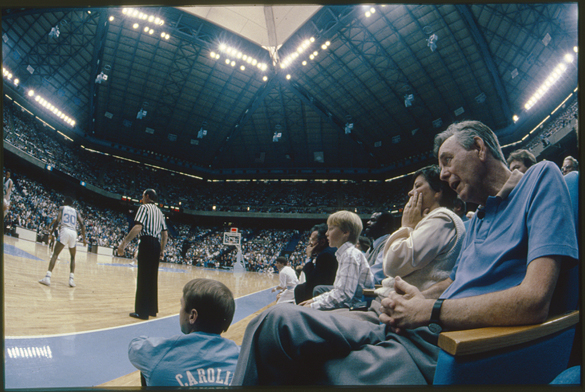 "Hargrove ""Skipper"" Bowles watches UNC vs. Duke in Smith Center"