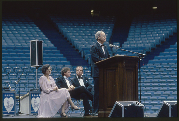 Fordham speaking at Dean Smith Center opening