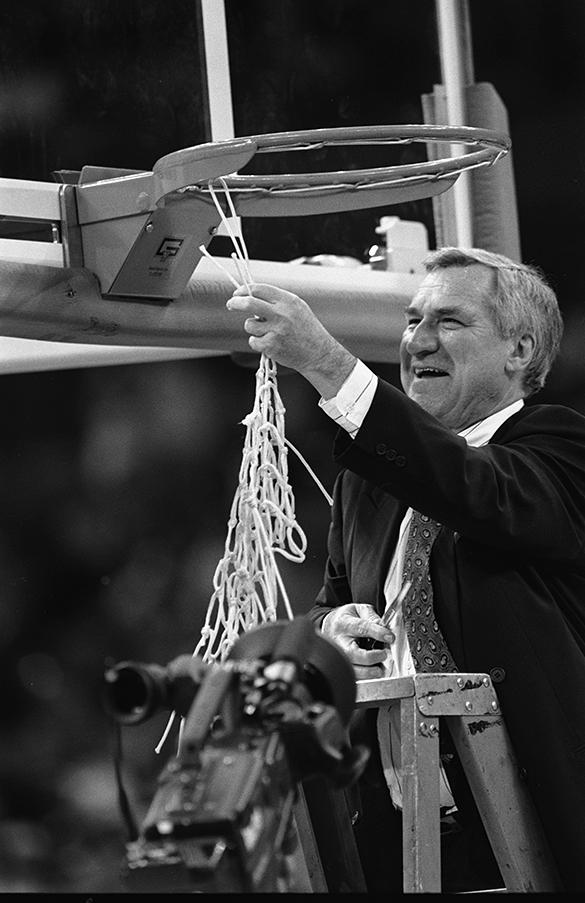 Dan Smith cutting net after winning 1993 NCAA championship
