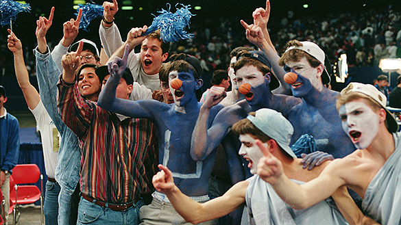 UNC student fans during the 1993 NCAA championship