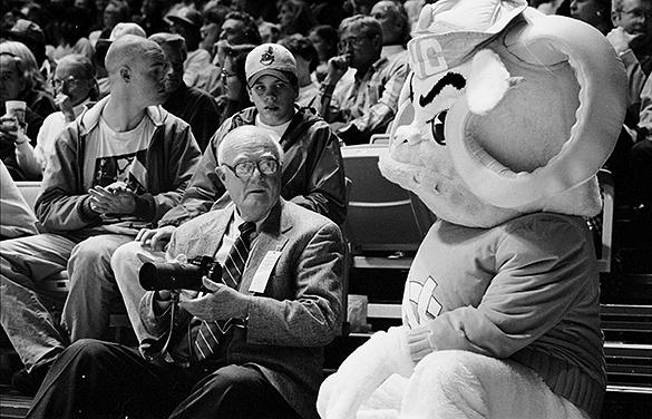 Hugh Morton and UNC mascot