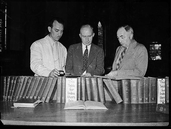 University Librarian Charles Rush