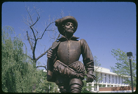Statue of Sir Walter Raleigh in downtown Raleigh, N. C.