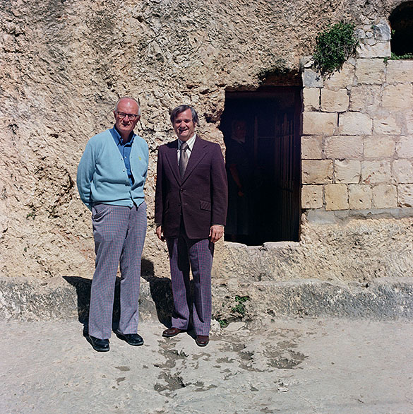 Hugh Morton and Arthur Smith during their March 1973 trip to the Holy Land.