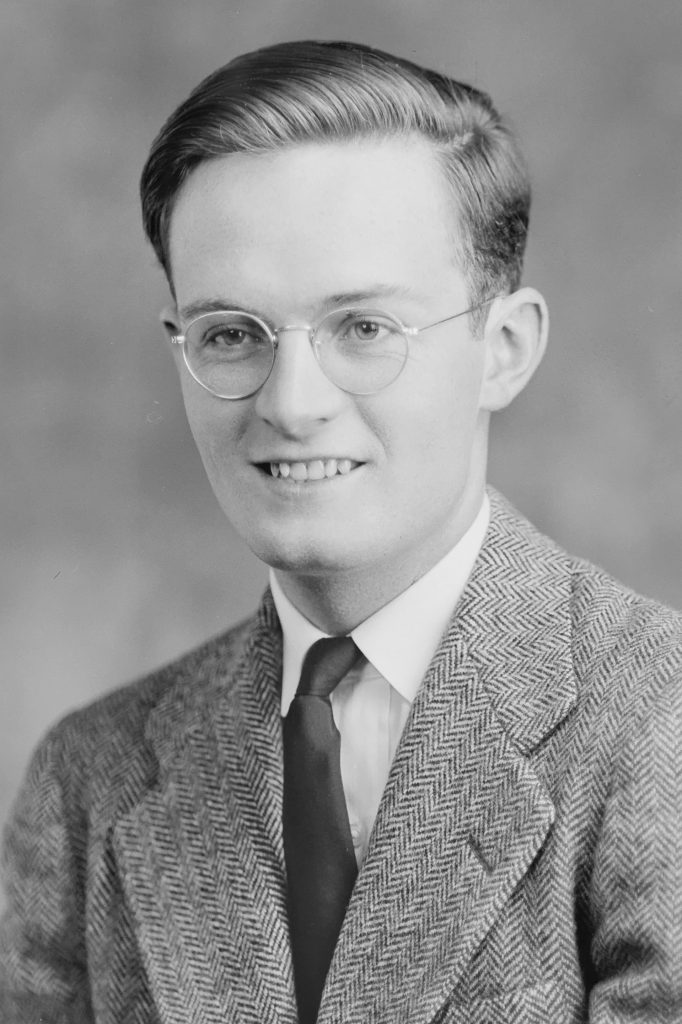 Portrait of Hugh Morton by Wootten-Moulton Studio, circa 1941-42, in the Bayard Morgan Wootten Photographic Collection (negative WM-O-1517-1, cropped by the editor).